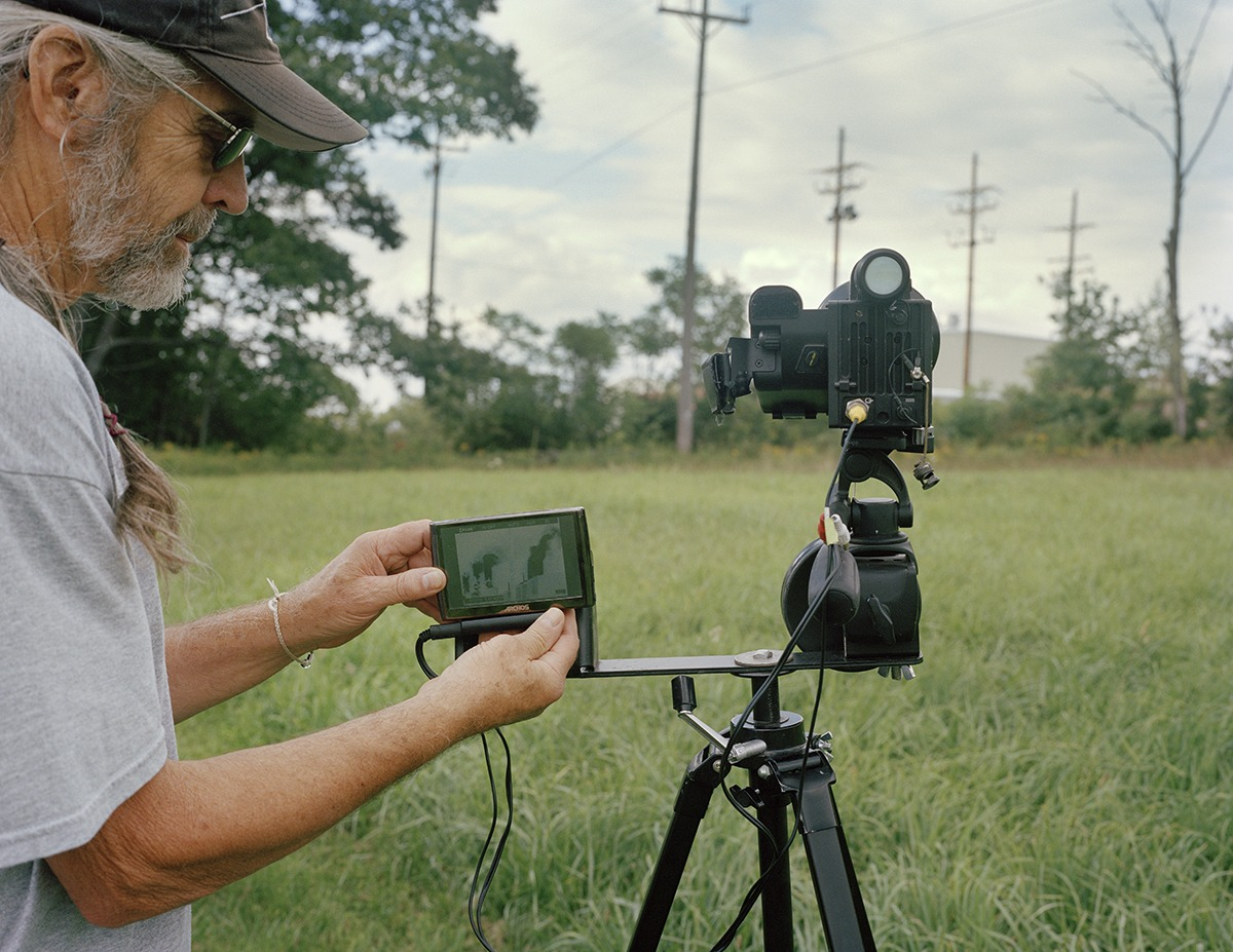 "Frank Finan, 65, uses a highly specialized infrared camera in order to document the air pollution emitted from gas infrastructure. ""It turns outs my life savings were for this. Even growing up I thought if I had the time and the money I would do something important. So I spent about $55,000 to buy the camera."""