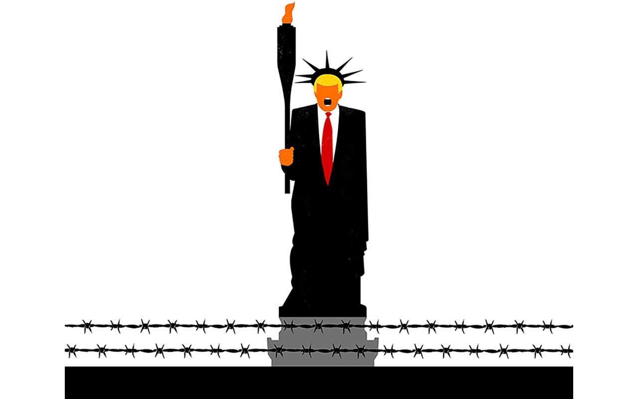 Trump Plots Potemkin Wall